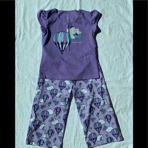 American Girl Pijama Set Sz Small (7/8)